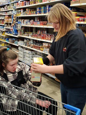 students shopping at WalMart