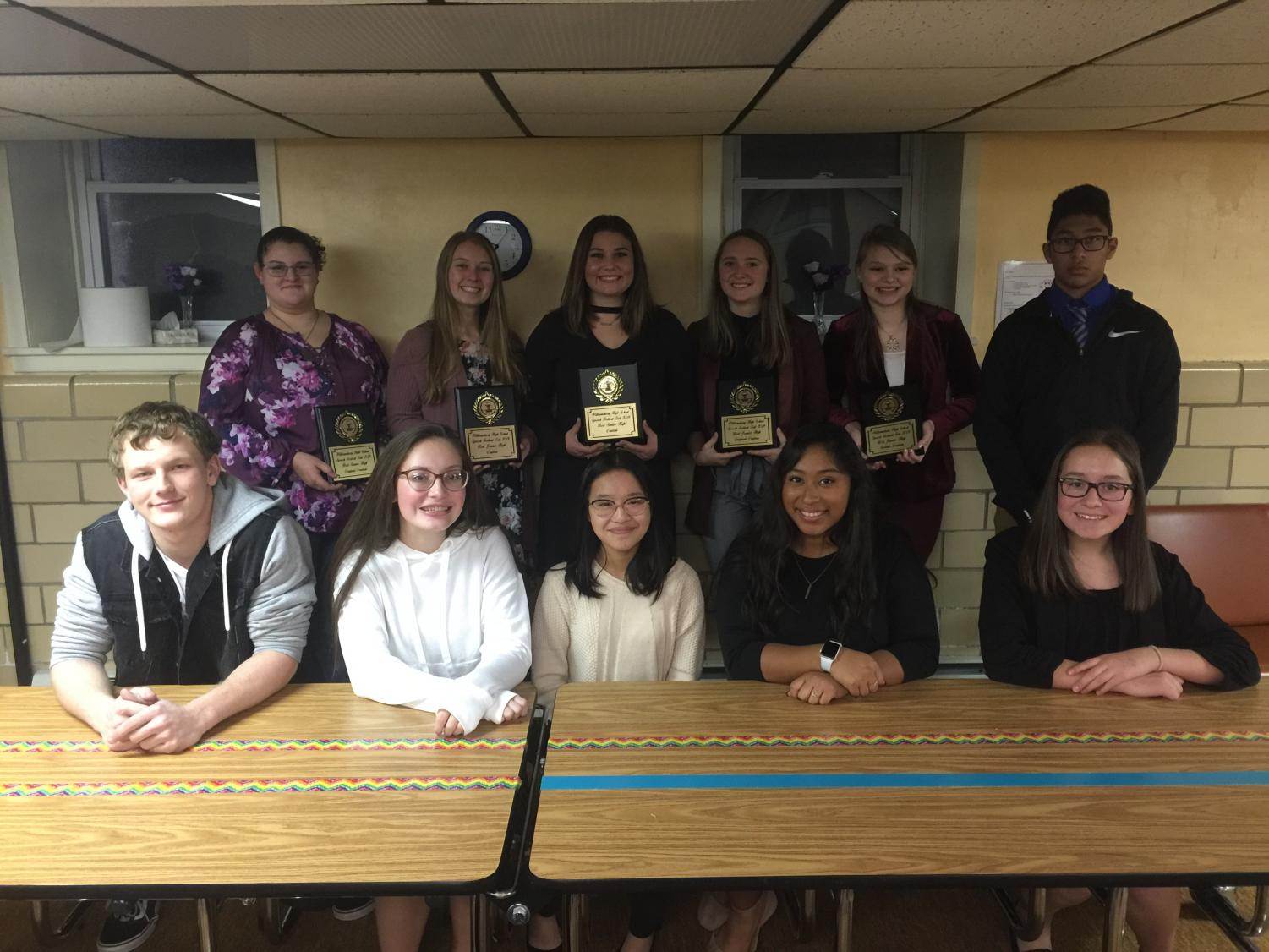 At the November 19 Fall Meet in Williamsburg, the Tyrone Speech Team took home five of the ten awards given to Central PA Speech League competitors with the highest scores.
