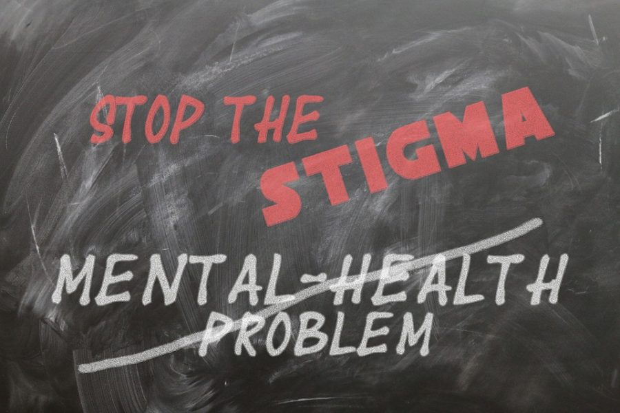 Stop the Stigma graphic on blackboard