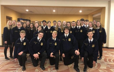 Twenty-seven Tyrone Area FFA members competed at the State AgriScience Fair at the Pennsylvania State Farm Show.