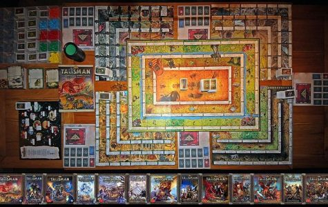 Talisman board game accompanied by its numerous expansions.