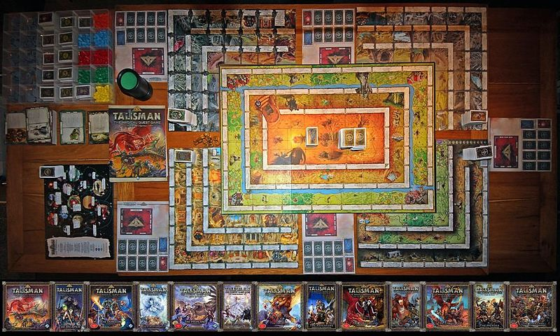 Talisman+board+game+accompanied+by+its+numerous+expansions.