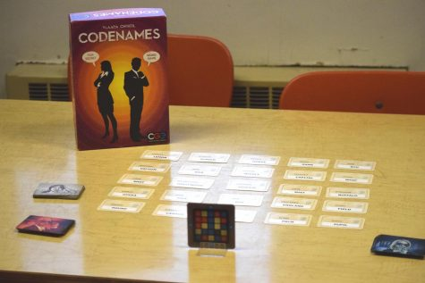 Codenames, the board game for the first TAHS Board Game Tournament.