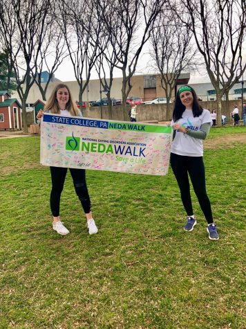 Eating Disorder walk banner