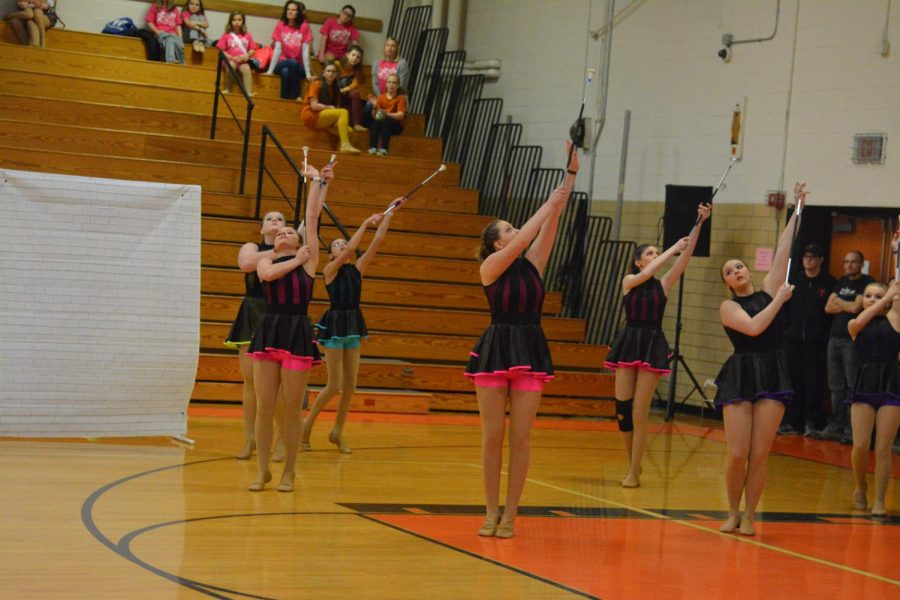 Star-Lite Sr. team starting their routine with their batons.