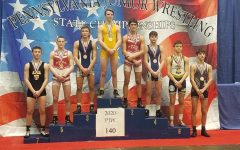 Reese Wood representing Tyrone on the States podium.