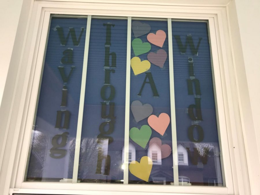 One of the first Heart Hunters windows in the Tyrone Area belongs to TAHS Business Teacher Amanda Oliver
