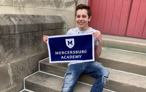 Junior Aden McCracken at a visit to Mercersburg Academy, which he will attend in the fall.