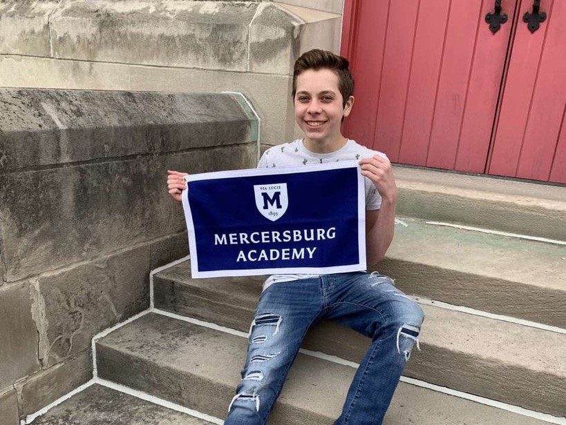Junior+Aden+McCracken+at+a+visit+to+Mercersburg+Academy%2C+which+he+will+attend+in+the+fall.