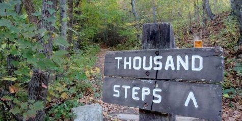 Thousand Steps is one one of the most popular hikes in central PA, but also one of the most difficult to maintain social distancing.