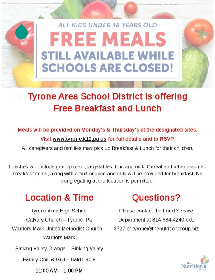 Information on free meals