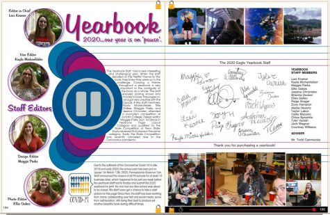 The 2020 Eagle Yearbook staff finished the yearbook on time this year despite the COVID-19 school shutdown. Click the slideshow to get a sneak peek of the 2020 Eagle Yearbook.