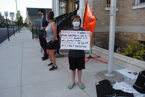 BLM protestor