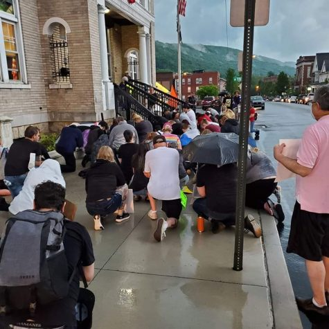 A peaceful protest of about 40-50 people in support of the Black Lives Matter movement occured on June 4th outside the Tyrone Municipal Building.