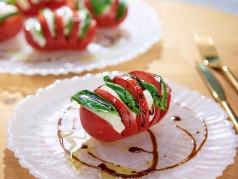 Hasselback Tomato Caprese