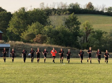 The boys cool down after their season opening win vs. Hutingdon