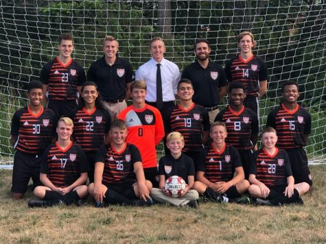 The Tyrone 2020 Boys Varsity Soccer team.