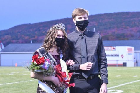 Queen Madison Coleman and her escort, David Lang