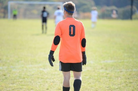 Senior keeper Landon Bungo in goal.