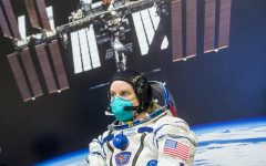 Expedition 64 NASA astronaut Kate Rubins is seen while waiting to have her Sokol suit pressure checked during the Soyuz MS-17 spacecraft fit check, Monday, Sept. 28, 2020, at the Baikonur Cosmodrome in Kazakhstan. Rubins, and Russian cosmonauts Sergey Ryzhikov and Sergey Kud-Sverchkov of Roscosmos are preparing for launch to the International Space Station in their Soyuz MS-17 spacecraft from the Baikonur Cosmodrome in Kazakhstan on October 14, Baikonur time. Photo Credit: (NASA/GCTC/Andrey Shelepin)
