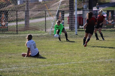 Sophomore Rayann Walls made many saves throughout last Thursday