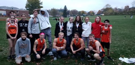 The Tyrone Cross Country team at the Blair-Huntingdon meet at Logan School in Altoona.