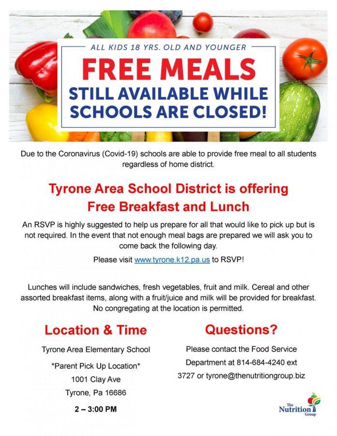 Poster for food distribution