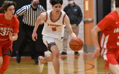 Tyrone junior guard Landon DeHass moves the ball up the court vs. Indiana last week