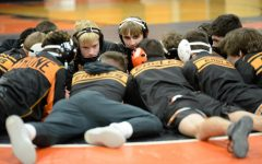 Tyrone wrestlers get ready for the match at home vs. Hollidaysburg.