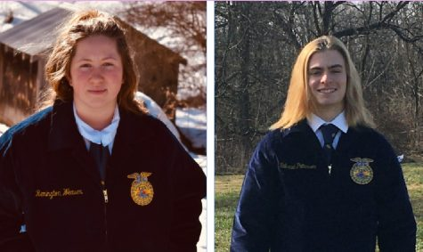 First year FFA members Remington Weaver and Nathaniel Patterson both received their FFA jackets recently