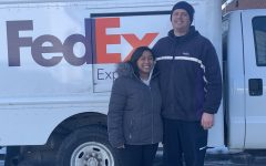 Warriors Mark resident and FedEx driver Adam McKinney, seen here with his daughter Ashlynn, was a part of history this January when he began delivering the Moderna COVID vaccine to local pharmacies and hospitals.