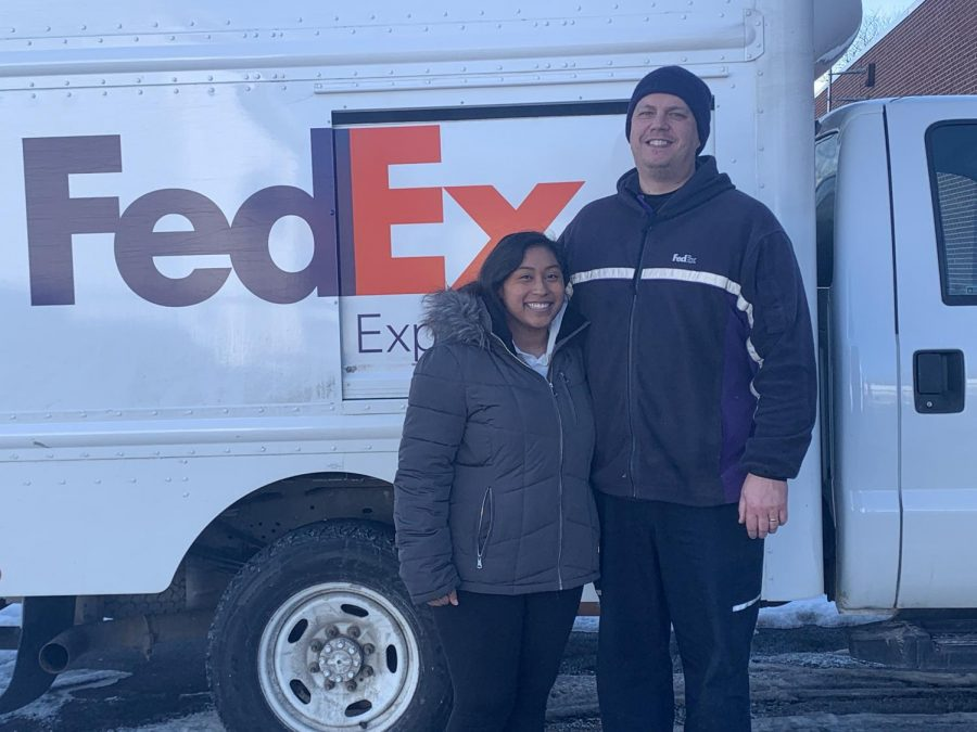 Warriors+Mark+resident+and+FedEx+driver+Adam+McKinney%2C+seen+here+with+his+daughter+Ashlynn%2C+was+a+part+of+history+this+January+when+he+began+delivering+the+Moderna+COVID+vaccine+to+local+pharmacies+and+hospitals.+