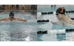 Madison Coleman and Sarah Hoover led the Tyrone District Swim Team at this year's PIAA D6 Championships