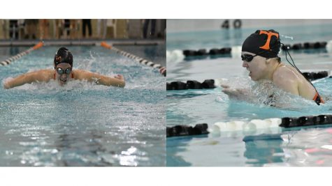 Madison Coleman and Sarah Hoover led the Tyrone District Swim Team at this year