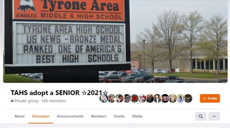 """Tyrone alumni and members of the community have once again come together to support Tyrone Area High School's senior class by continuing the """"adopt"""" a senior page on Facebook."""