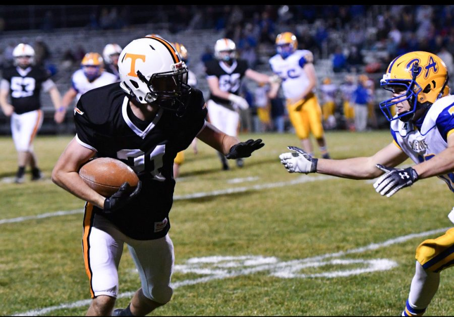 Cortlynd Rhoades with the carry in last years Backyard Brawl