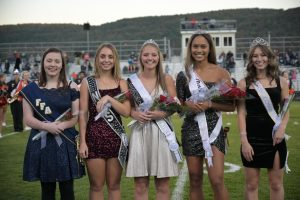 Grace Peterson, Stephanie Ramsey, Princess Maci Brodzina, Queen Jaida Parker, and 2020 Queen Madison Coleman