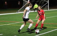 Junior Eliza Vance looking to take a shot at the goal.