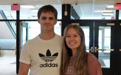 Student School Board Representatives Mason Swabick and Lydia Seltzer