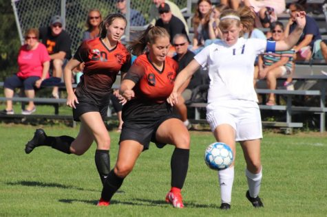 Junior Chloe LaRosa took many shots at Hollidaysburgs goal but was unable to make any in. (File Photo)